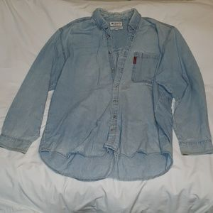Columbia light denim Shirt Size XXL